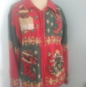 Sweaters - Ugly Christmas sweater size large READ Description